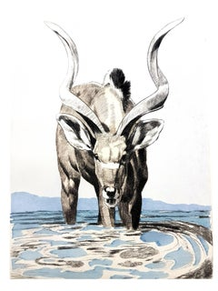 Paul Jouve - Antelope - Original Engraving