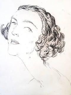 Jean Gabriel Domergue - Portrait - Original Etching