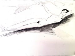 Jean Gabriel Domergue - Lying Naked - Original Etching
