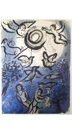 Marc Chagall - The Bible - Adam and Eve - Original Lithograph