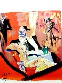 Domergue - On the Road to the Maxims - Original Lithograph