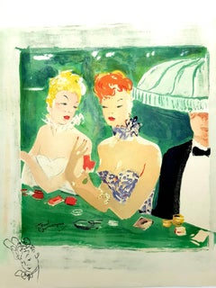 Jean-Gabriel Domergue - At The Cafe Rue Caumartin