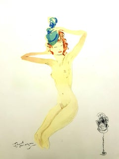 Domergue - Almost Dressed - Original Lithograph