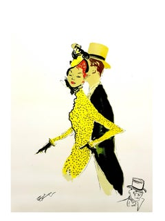 Domergue - Elegant Couple - Original Signed Lithograph
