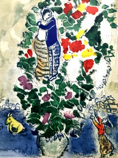After Marc Chagall - Lovers - Lithograph