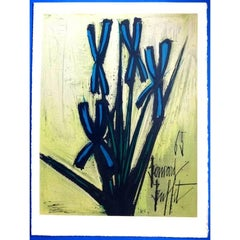 Bernard Buffet - Flowers - Lithograph