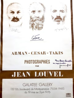 César, Arman, Takis - Signed Original Exhibition Poster - Signed by All