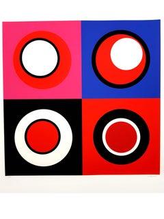 Geneviève Claisse - Kinetic Composition II - Original Signed Lithograph