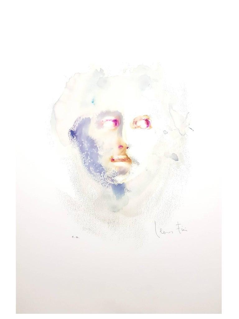 Leonor Fini - Portrait - Handsigned Original Lithograph For Sale 5