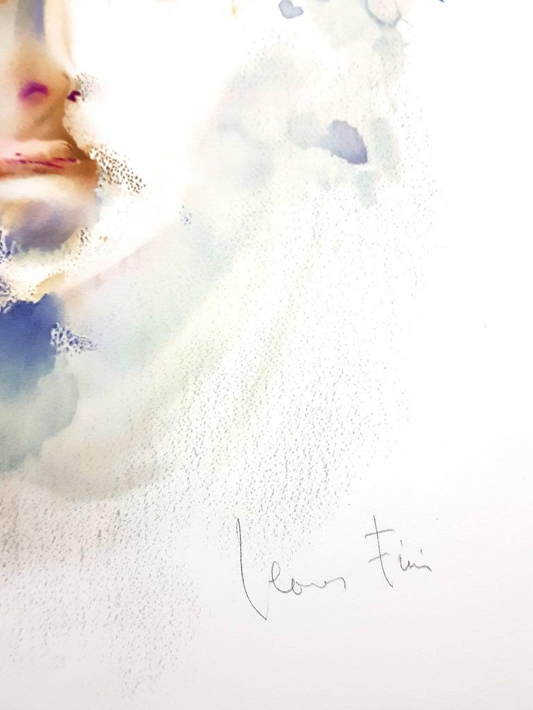 Leonor Fini - Portrait - Handsigned Original Lithograph - Modern Print by Leonor Fini