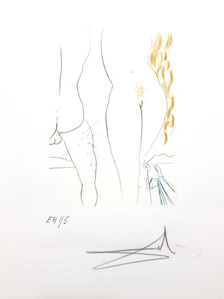 Decameron - Portfolio of 10 Original Signed Engravings by Salvador Dali For Sale 1