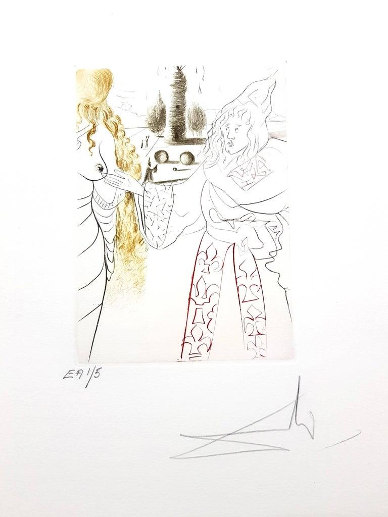 Decameron - Portfolio of 10 Original Signed Engravings by Salvador Dali 7