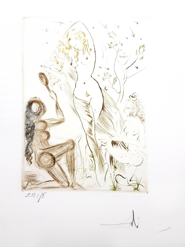 Salvador Dalí Nude Print - Decameron - Portfolio of 10 Original Signed Engravings by Salvador Dali