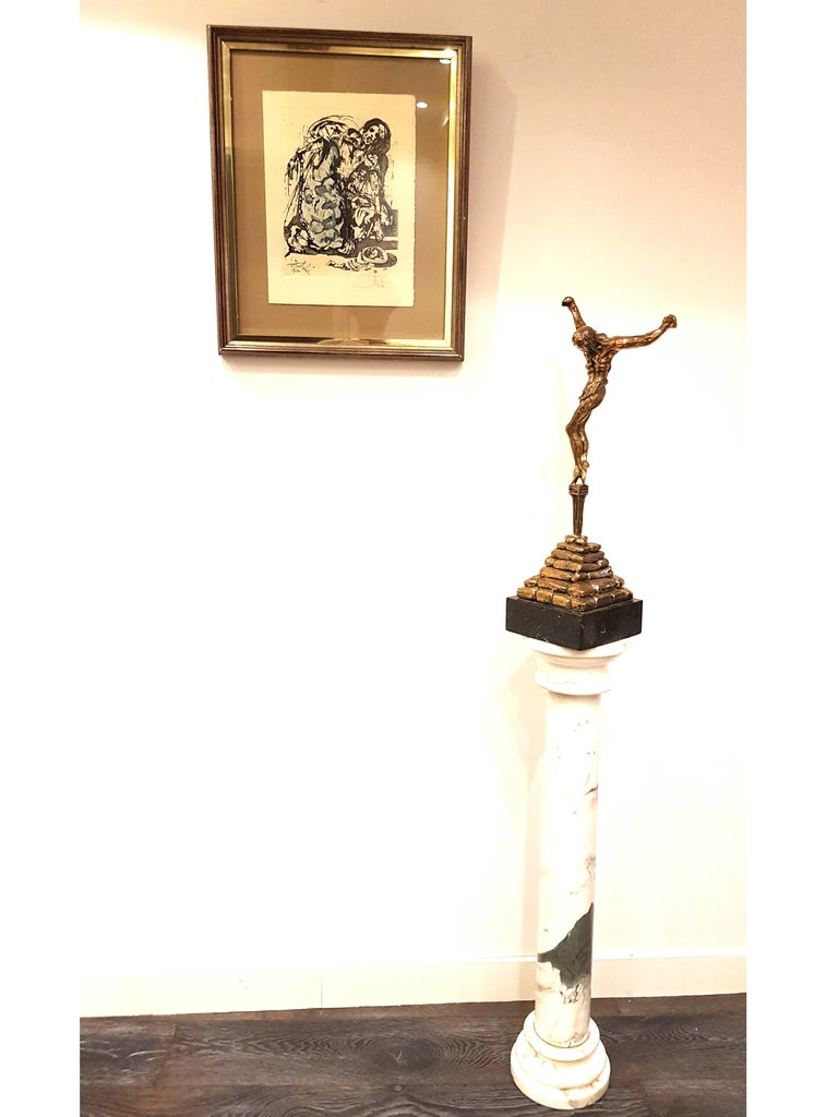 large gilded bronze sculpture - Christ de Saint Jean-de-la-Croix For Sale 5