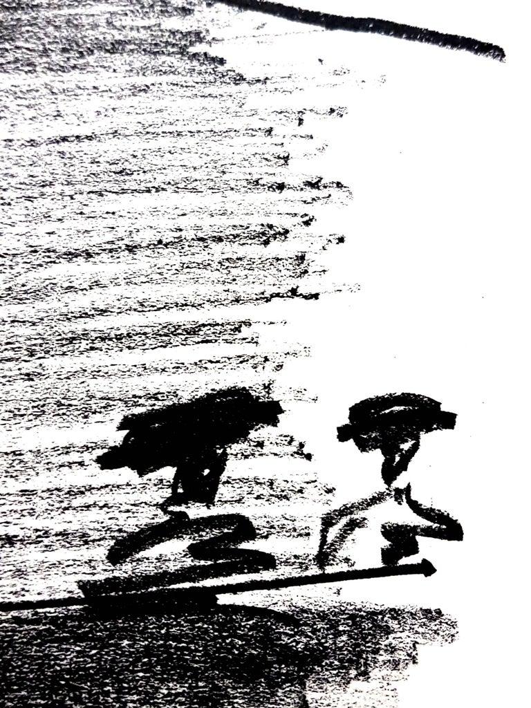 Pablo Picasso - Les Banderillas - Original Lithograph - Gray Figurative Print by Pablo Picasso