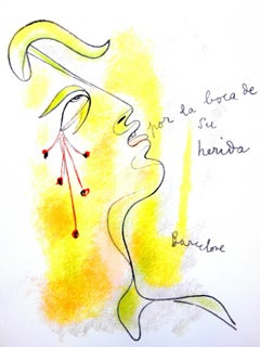 Jean Cocteau - Profile - Original Lithograph