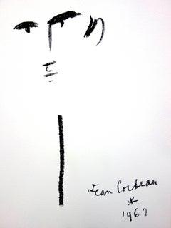 Jean Cocteau - Portrait - Original Lithograph