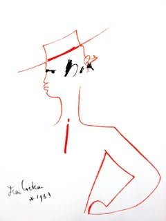 Jean Cocteau - Man with Hat - Original Lithograph