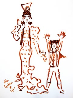 Jean Cocteau - Mother and Son - Original Lithograph