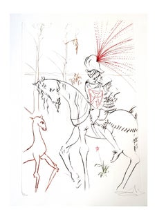 Salvador Dali - The Bloody Ford - Original Handsigned Etching