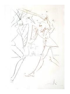 Salvador Dali - The Pass of Gadalore - Original Handsigned Etching