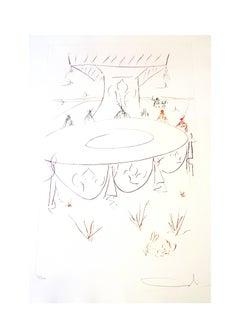 Salvador Dali - Lancelot Comrade of the Round Table - Original Signed Etching