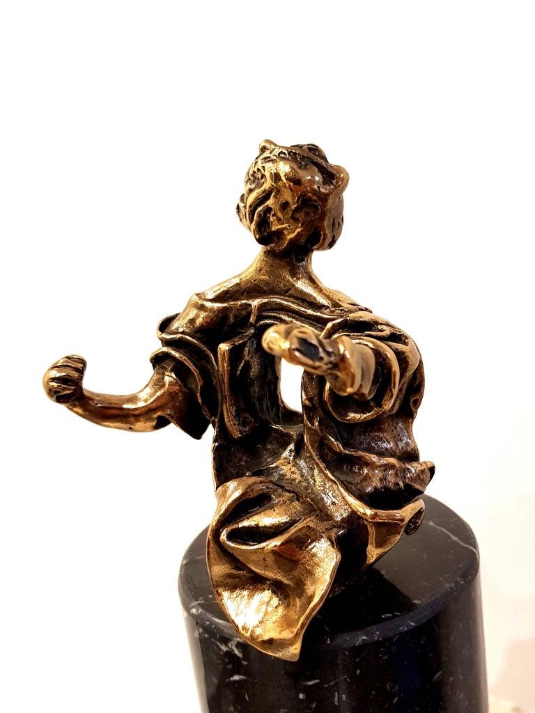 Salvador Dali - Madonna of Port Lligat - Signed Bronze Sculpture For Sale 4