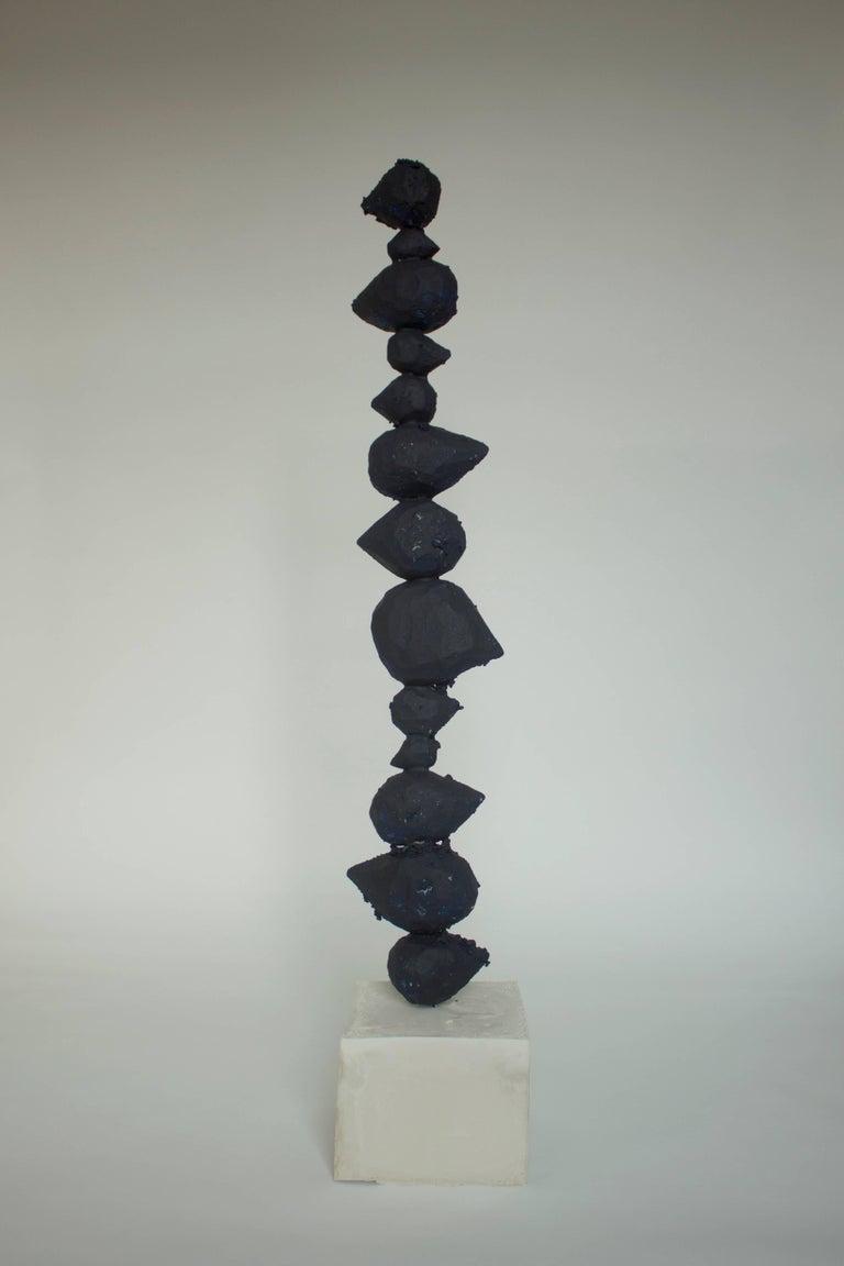 Naoki Kawano - Contemporary Sculpture - Internal object no.2 - Gray Abstract Sculpture by Naoki Kawano