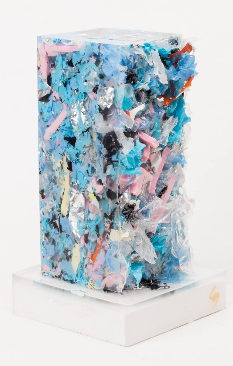 "Title: Peter Resin, Trash 3.5"" X 3.5"" X 6.75"" 2017  Contemporary Trash Compression, questionning the frontiers of art and criticizing the excesses of mass consumption.    CHARLES OSAWA is a Los Angeles-based artist and designer whose talents span"