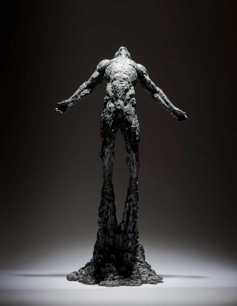 Ian Edwards - The Calling - Original Signed Bronze Sculpure - Gold Nude Sculpture by Ian Edwards