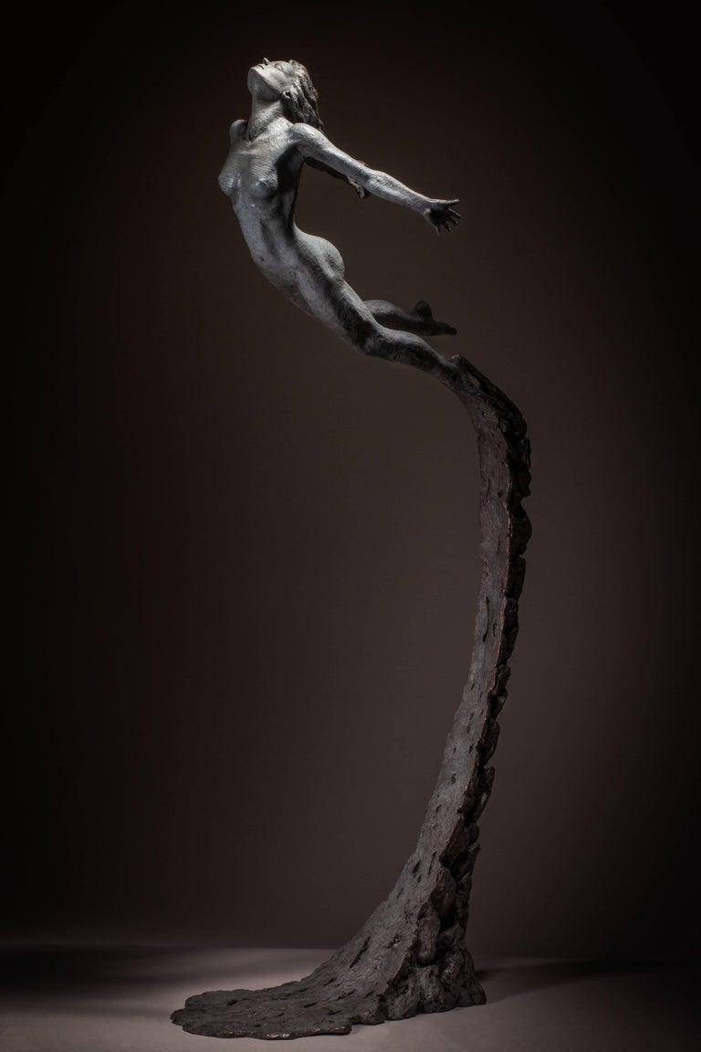 Ian Edwards - Leap Within Faith - Original Signed Bronze Sculpure - Contemporary Sculpture by Ian Edwards