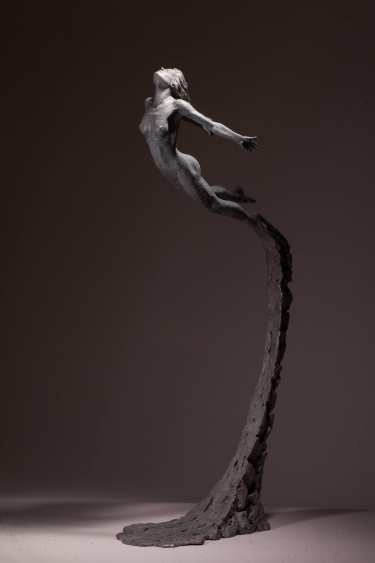 Ian Edwards - Leap Within Faith - Original Signed Bronze Sculpure Dimensions: 170 x 55 x 40 cm  Edition of 12  Edwards' practice expresses the power and determination of human endeavour. He draws inspiration from natural forces, with his powerful