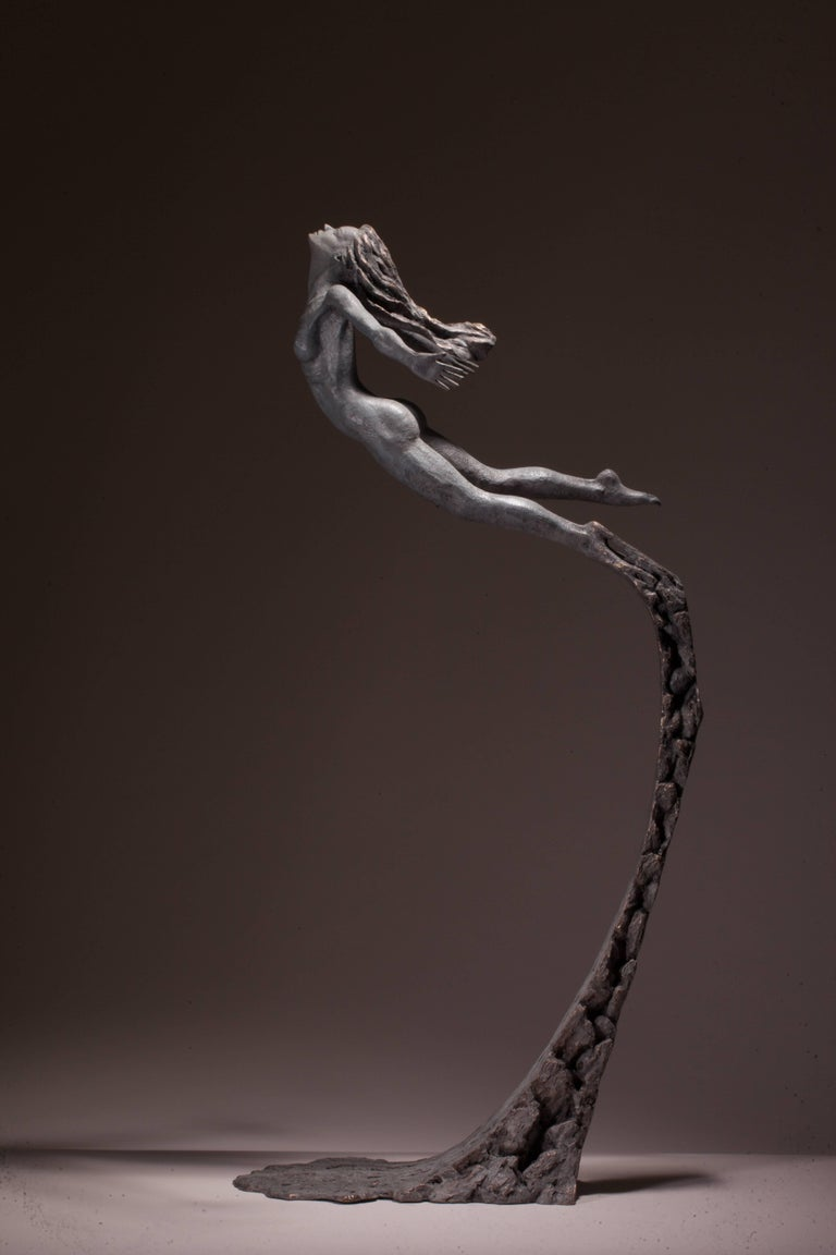 Ian Edwards - Leap Within Faith - Original Signed Bronze Sculpure - Sculpture by Ian Edwards