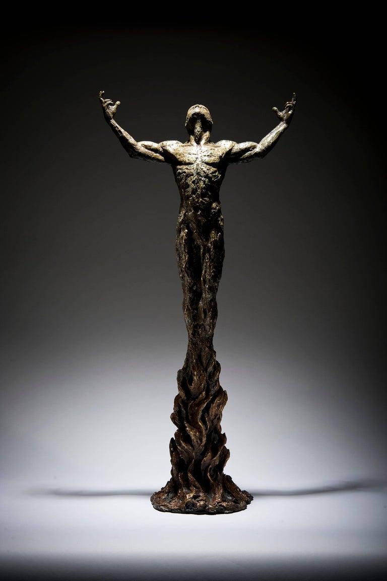 Ian Edwards - Bornwithin Fire - Original Signed Bronze Sculpure - Sculpture by Ian Edwards