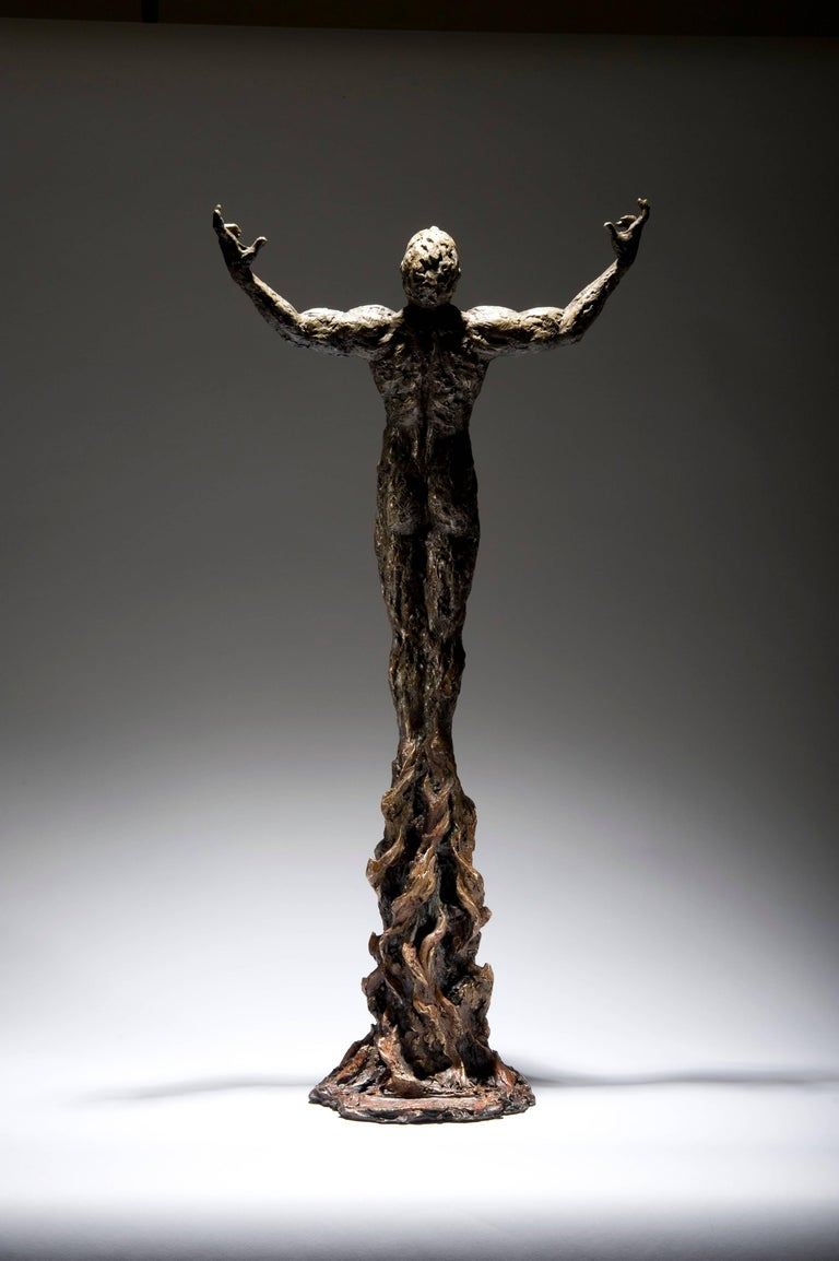 Ian Edwards - Bornwithin Fire - Original Signed Bronze Sculpure - Contemporary Sculpture by Ian Edwards
