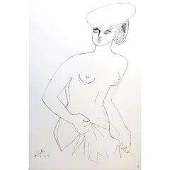 Jean Cocteau - Actress - Original Lithograph