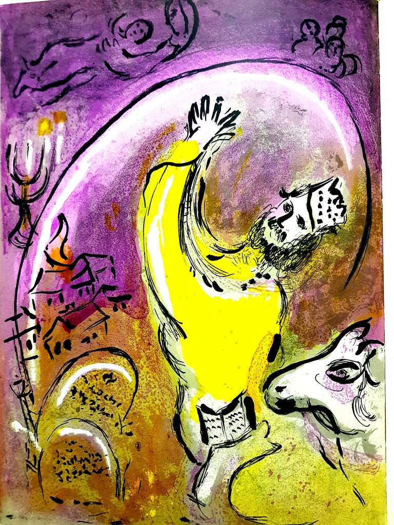 Marc Chagall - The King - Original Lithograph