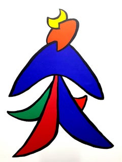 Alexander Calder - Original Lithograph - Behind the Mirror