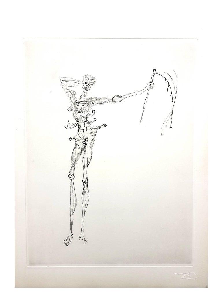 Salvador Dali - Venus in Furs - Original Stamp-Signed Etching For Sale 1