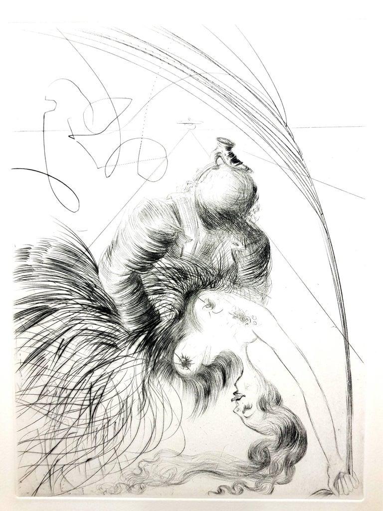 Salvador Dali - Venus in Furs - Original Stamp-Signed Etching