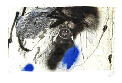 Antoni Clavé - Signed Original Lithograph - Blue Abstract Composition
