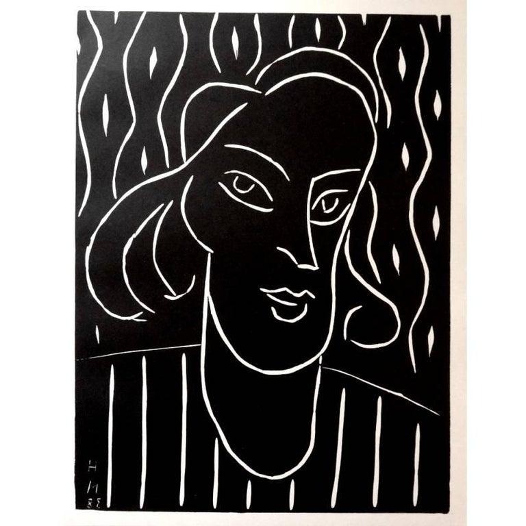 Original Linocut - Henri Matisse - Teeny  - Print by Henri Matisse