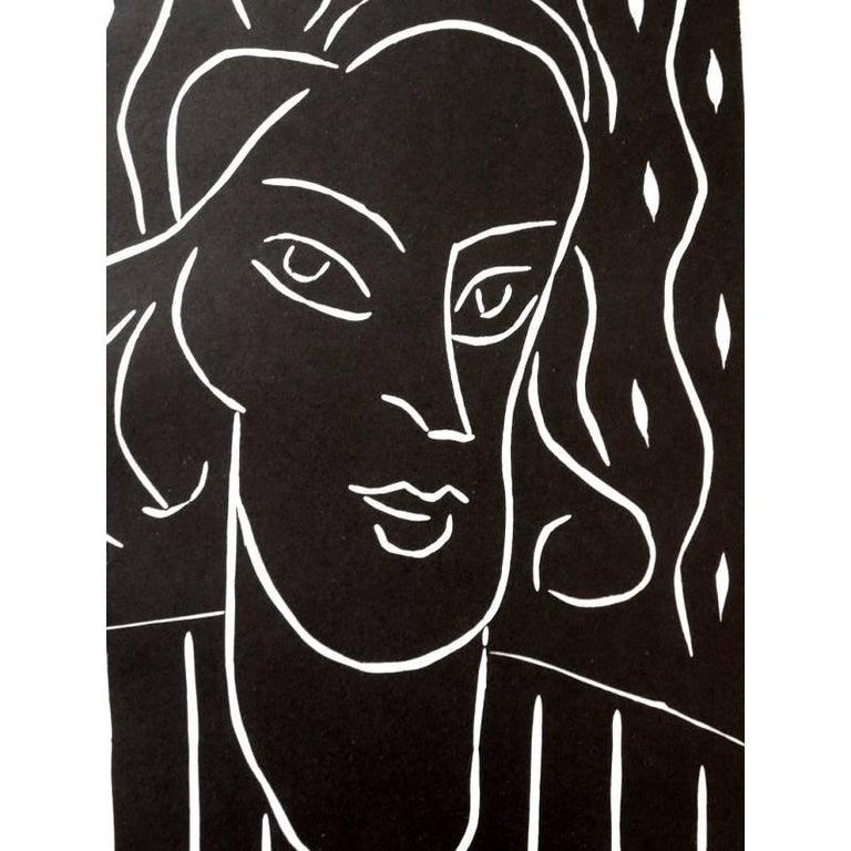 Original Linocut - Henri Matisse - Teeny  - Modern Print by Henri Matisse