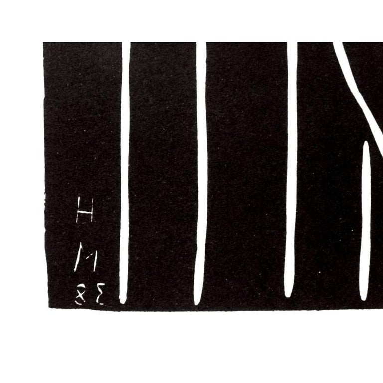 Original Linocut by Henri Matisse - Teeny  Artist : Henri MATISSE 1938/1959 with the artist's printed monogram and inverted date, as issued 31 x 24 cm References : Duthuit-Matisse Catalogue raisonné #723.  MATISSE'S BIOGRAPHY  YOUTH AND EARLY