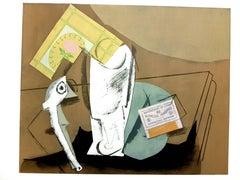 After Pablo Picasso - Cubist Still Life - Pochoir
