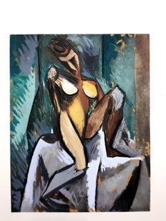After Pablo Picasso - Nature Morte à la Pipe - Pochoir