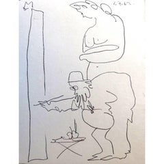 Pablo Picasso - Painter and His Model - Original Lithograph