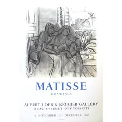 "Vintage Exhibition Poster - ""Henri Matisse - Drawings - New-York"""