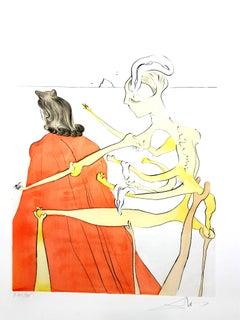 Salvador Dali - The Divine Back of Gala - Original Signed Engraving