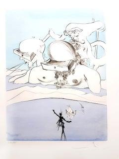 Salvador Dali - Flung out like - Original Signed Engraving